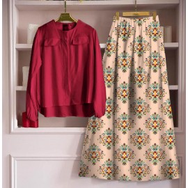💃 *GOOD QUALITY HEAVY TOP WITH BEAUTIFUL FULLY STITCHED SKIRT * 💃